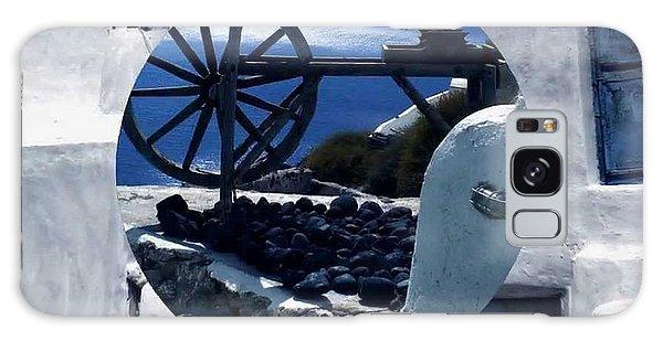 Santorini Island Greece Galaxy Case