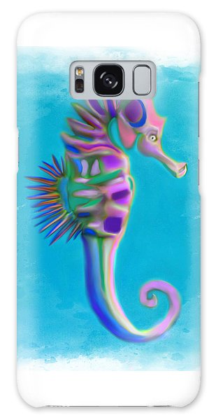 Galaxy Case featuring the painting The Pretty Seahorse by Deborah Boyd
