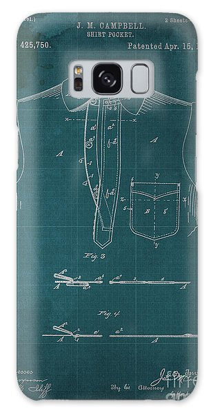 Blueprint Galaxy Case - Shirt Pocket Blueprint Patent by Drawspots Illustrations