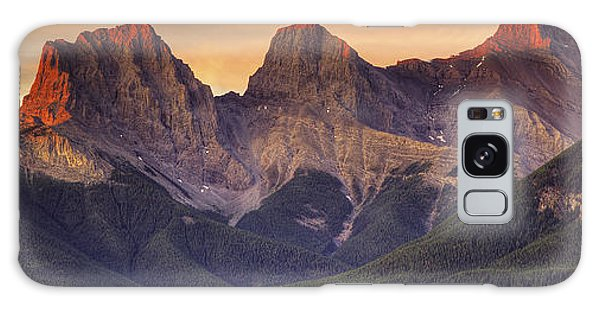 3 Sisters Canmore Alberta Galaxy Case