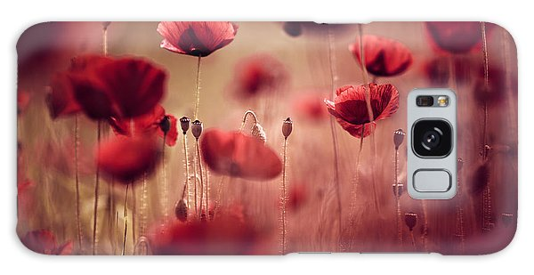 Galaxy Case - Summer Poppy by Nailia Schwarz