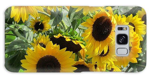 Sunflower Field Galaxy Case by France Laliberte