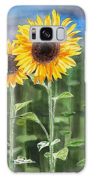 Sunflowers Galaxy Case by Irina Sztukowski