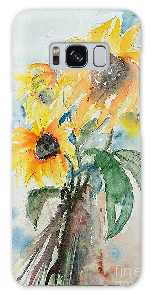 Sunflowers Galaxy Case by Ismeta Gruenwald