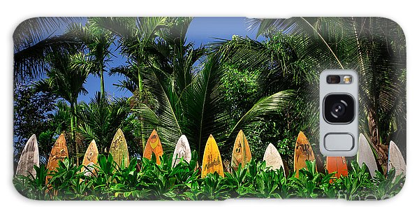 Surf Board Fence Maui Hawaii Galaxy Case