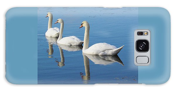 3 Swans A-swimming Galaxy Case