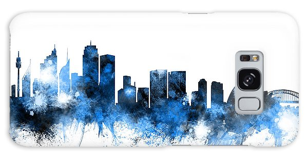 Sydney Skyline Galaxy Case - Sydney Australia Skyline by Michael Tompsett