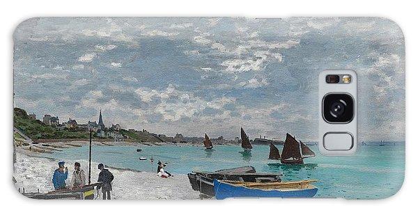 Art Institute Galaxy Case - The Beach At Sainte-adresse by Claude Monet