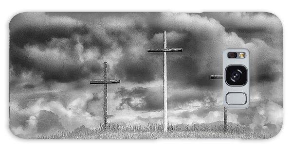 Three Crosses On Hill Galaxy Case