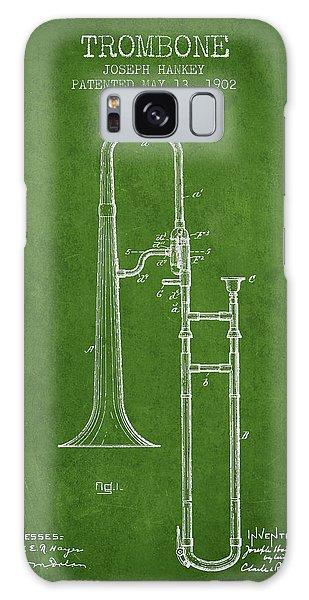 Trombone Galaxy Case - Trombone Patent From 1902 - Green by Aged Pixel