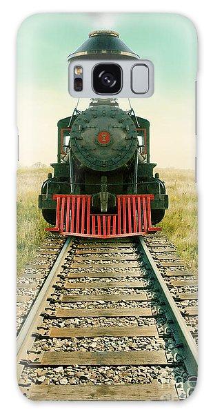 Vintage Train Engine Galaxy Case by Jill Battaglia