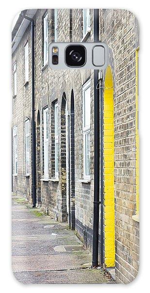 Bury St Edmunds Galaxy Case - Yellow Door by Tom Gowanlock