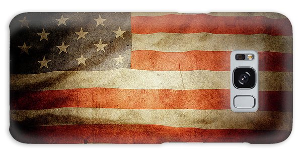 Usa Galaxy Case - American Flag Rippled by Les Cunliffe
