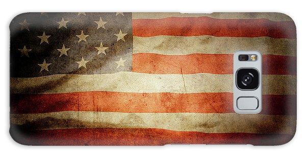 Landmark Galaxy Case - American Flag Rippled by Les Cunliffe