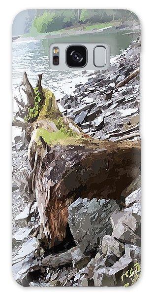 3206 Alaskan Rain Forest Shore Line Galaxy Case