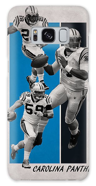 Panther Galaxy S8 Case - Carolina Panthers by Joe Hamilton