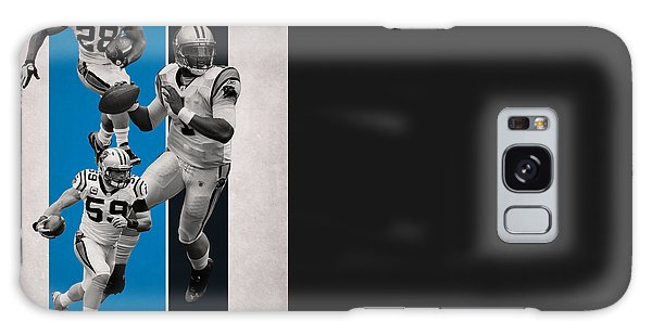 Panther Galaxy S8 Case - Carolina Panthers Team Flag 2 by Joe Hamilton