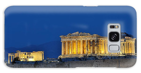 Acropolis Of Athens During Dusk Time Galaxy Case