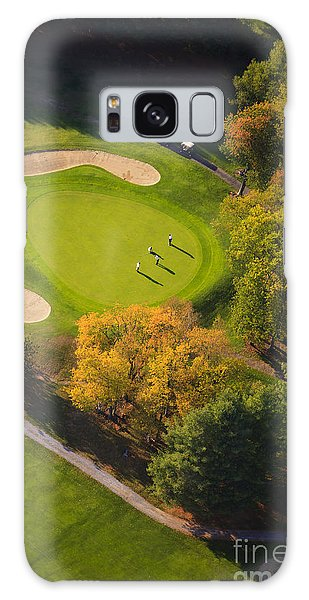 Aerial Image Of A Golf Course. Galaxy Case