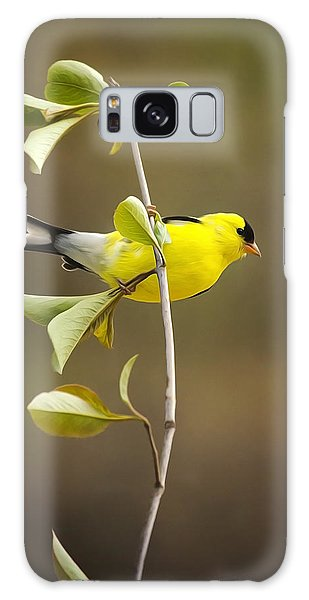 American Goldfinch Galaxy Case by Christina Rollo