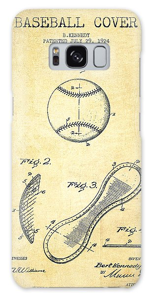Baseball Cover Patent Drawing From 1924 Galaxy S8 Case
