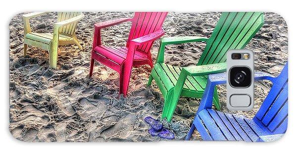 4 Beach Chairs Galaxy Case by Michael Thomas