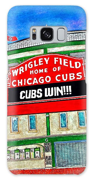 Blue Skies Over Wrigley Galaxy Case by Janet Immordino