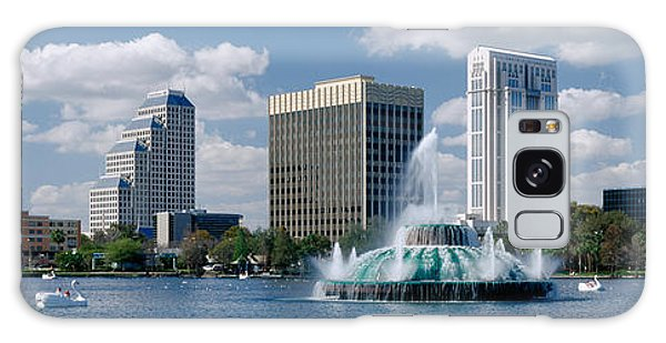 Swan Boats Galaxy Case - Buildings At The Waterfront, Lake Eola by Panoramic Images