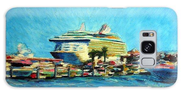 Cabo Marina Cruise Ship  Galaxy Case by Gerhardt Isringhaus