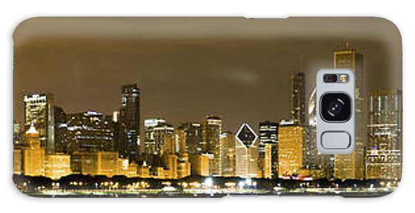 Chicago Skyline At Night Galaxy Case