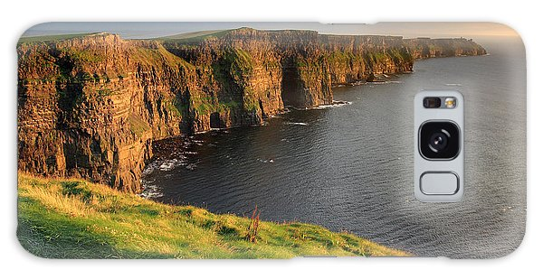 Cliffs Of Moher Sunset Ireland Galaxy Case by Pierre Leclerc Photography