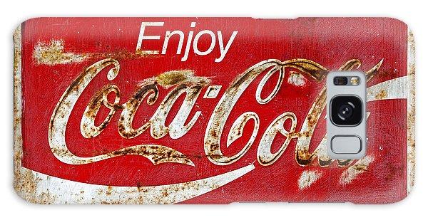 Coca Cola Vintage Rusty Sign Black Border Galaxy Case