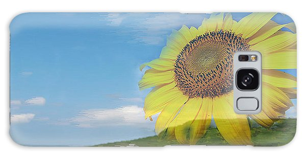 Sunflower Facing The Oceans  Galaxy Case