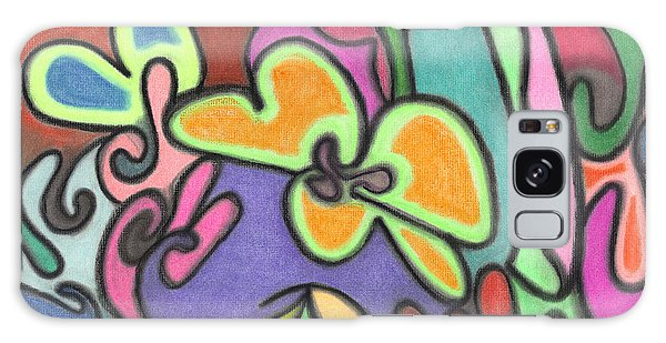 Fluid Flowers Galaxy Case by Christine Perry