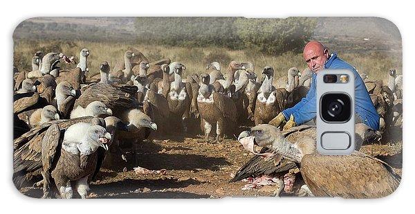 Griffon Vulture Conservation Galaxy Case by Nicolas Reusens