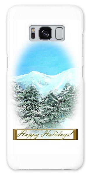 Happy Holidays. Best Christmas Gift Galaxy Case by Oksana Semenchenko