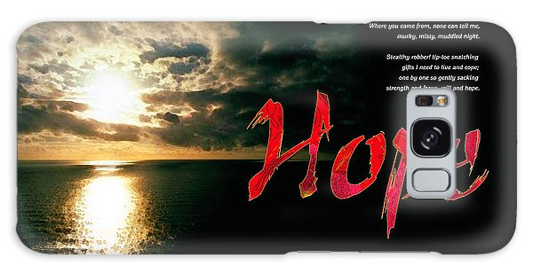 Hope Galaxy Case by Chuck Mountain