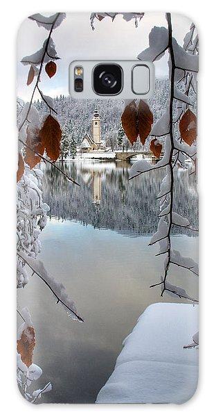 Lake Bohinj In Winter Galaxy Case by Ian Middleton