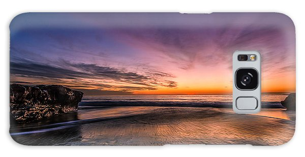 4 Mile Beach Sunset Galaxy Case by Linda Villers