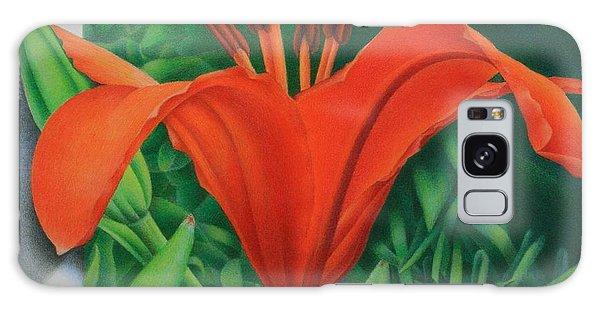Orange Lily Galaxy Case