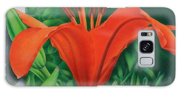 Orange Lily Galaxy Case by Pamela Clements