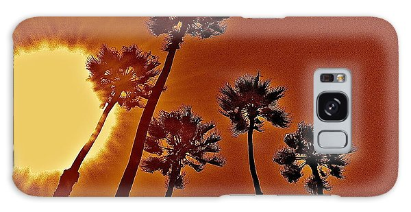 4 Palms N Sun Galaxy Case