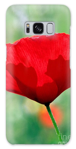 Poppy Flower Galaxy Case by George Atsametakis