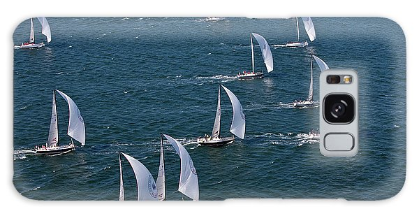 Swan Boats Galaxy Case - Sailboats In Swan Nyyc Invitational by Panoramic Images