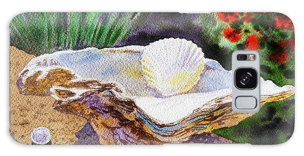 Sea Shell And Pearls Morning Light Galaxy Case