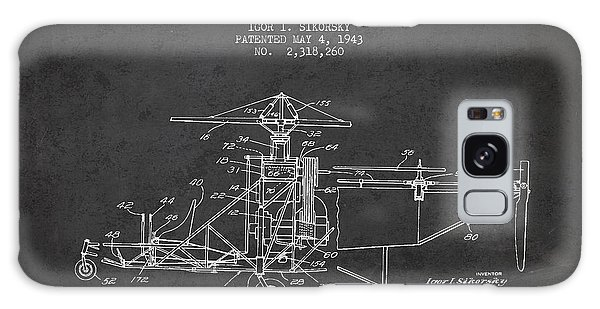 Helicopter Galaxy S8 Case - Sikorsky Helicopter Patent Drawing From 1943 by Aged Pixel