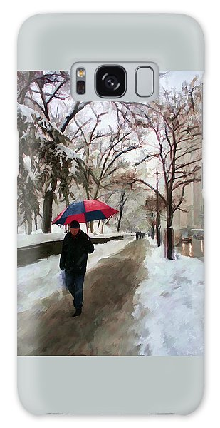 Galaxy Case featuring the digital art Snowfall In Central Park by Deborah Boyd