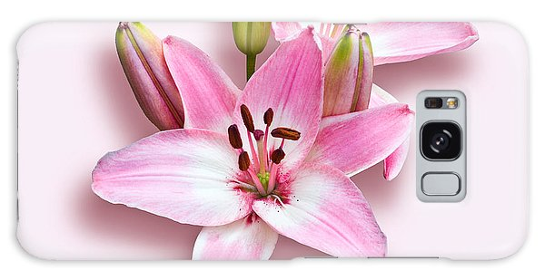 Spray Of Pink Lilies Galaxy Case