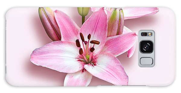 Spray Of Pink Lilies Galaxy Case by Jane McIlroy