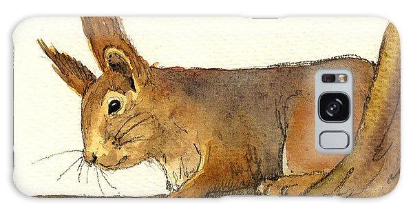 Squirrel Galaxy Case - Squirrel by Juan  Bosco
